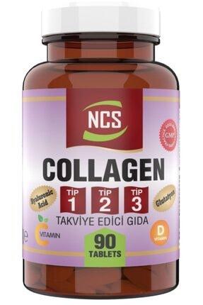 Ncs 90 Tablet Hidrolize Collagen (kolajen) Type (tip) 1-2-3 Hyaluronic Acid Vitamin C &d Glutatyon 0