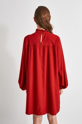 TRENDYOLMİLLA Kiremit Geniş Kesim Elbise TWOAW21EL0201 4