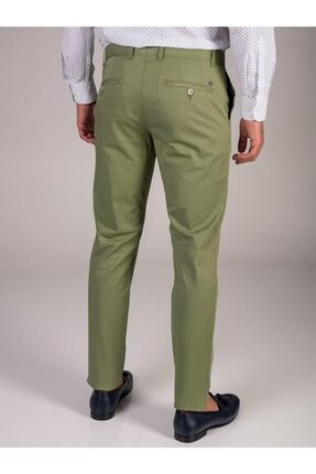 Dufy Yeşil Baskı Sık Dokuma Erkek Pantolon - Slım Fıt 2