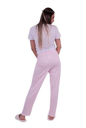ARCAN Kadın Pembe Kalp Desenli Pijama Altı 20106 3