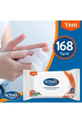 Activex Antibakteriyel Islak Mendil Aktif 3'lü Islak Mendil - 168 Yaprak 1
