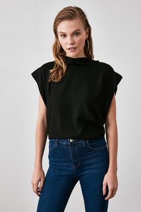 TRENDYOLMİLLA Siyah Kol Detaylı Bluz TWOAW21BZ0092 0