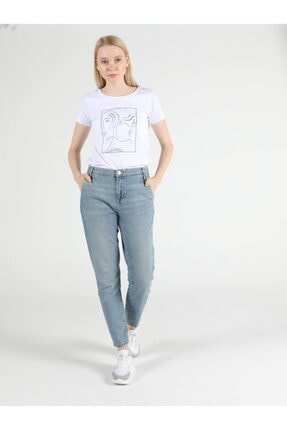 Colin's Tesa Chıno Orta Bel Rahat Kesim Paça Kadın Jean Pantolon 2