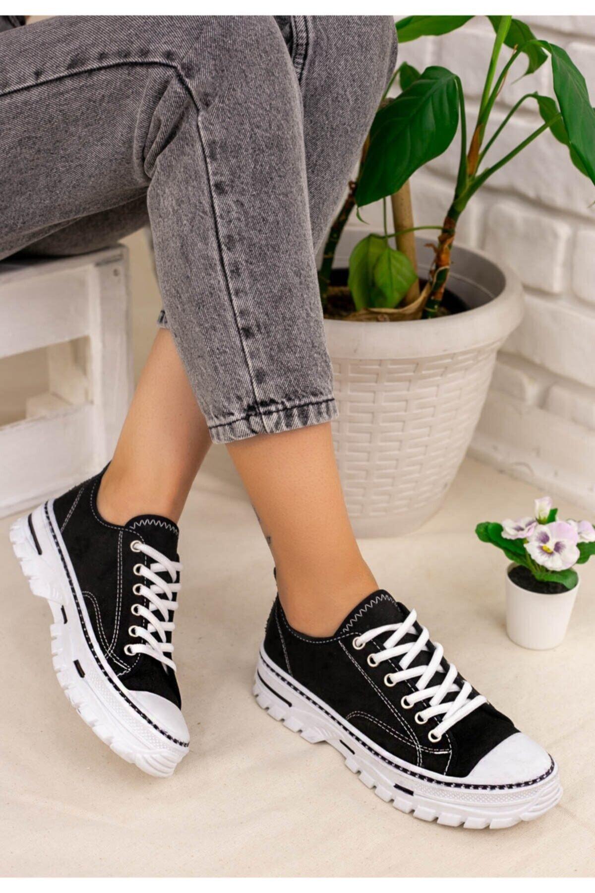 Erbilden Kadın Siyah Spor Ayakkabı