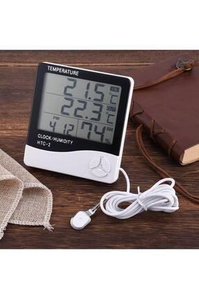 Nokta's Masaüstü Dijital Termometre Nem Ölçer Saat Higrometre 4