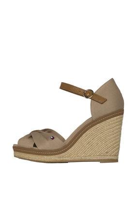 Tommy Hilfiger Kadın Gri Dolgu Topuklu Ayakkabı Iconıc Elena Sandal FW0FW00905 1