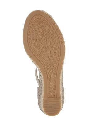 Tommy Hilfiger Kadın Bej Sandalet Basıc Open Toe Mıd Wedge FW0FW04785 2