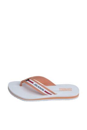 Tommy Hilfiger Kadın Turuncu Sandalet Chunky Tape Flat Beach Sandal EN0EN00859 0