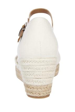 Tommy Hilfiger Kadın Beyaz Sandalet Basıc Open Toe Mıd Wedge FW0FW04785 1