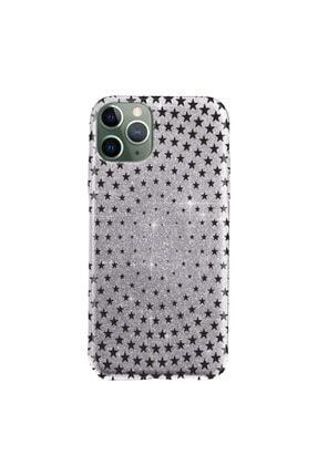 """Cekuonline Iphone 11 Pro Max 6.5"""" Kılıf Simli Shine Desen Silikon Gümüş Gri - Stok182 - Starix 0"""