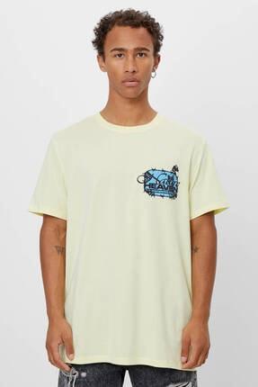 Bershka Uzun Kollu Baskılı T-shirt 0