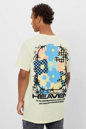 Bershka Uzun Kollu Baskılı T-shirt 1