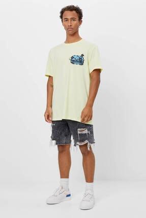Bershka Uzun Kollu Baskılı T-shirt 3