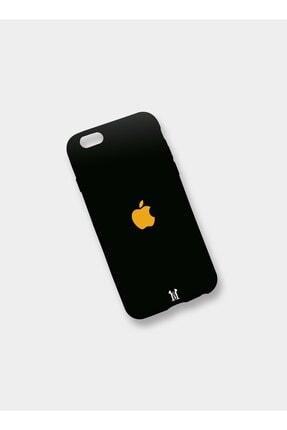 Mess Negozıo Apple Iphone 8 Plus Uyumlu Premium Siyah Silikon Dokulu Baskı Logolu Model Kılıf 0