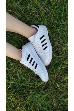 TangModa Kadın Beyaz Ortopedik Spor Ayakkabı 2