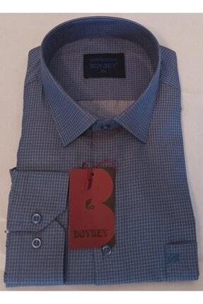 OBOYBEY COLECTİON Erkek Saks Çizgili Gömlek 0