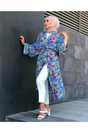 SAREM Kadın Yazlık Kuşaklı Şık Kimono 0