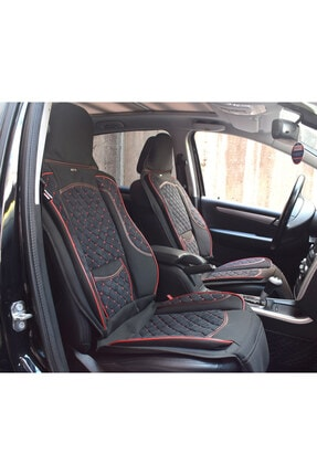 AutoEN Kırmızı Dikişli Ford Focus 3 Hb Takmatik Ön Oto Koltuk Kılıfı Minder 1