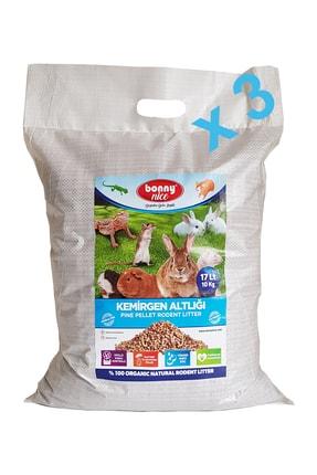 Bonny Nice Çam Pelet Kemirgen Altlığı 10 kg 17 litre - x 3 paket 51 litre 0