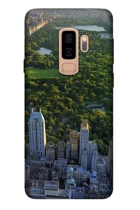 Cekuonline Samsung Galaxy S9 Plus Tıpalı Kamera Korumalı Silikon Kılıf - Central Park 0