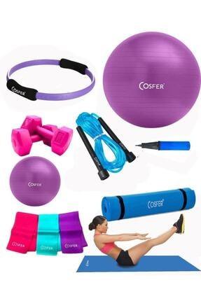Cosfer Csf-tr033 8 Li Pilates Seti Pilates Minderi 0