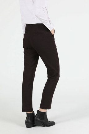 Colin's Slim Fit Orta Bel Düz Paça Kadın Bordo Pantolon 1