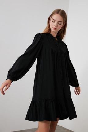 TRENDYOLMİLLA Siyah Geniş Kesim Gömlek Elbise TWOAW21EL0169 2