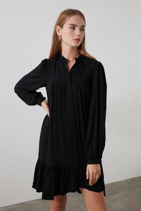 TRENDYOLMİLLA Siyah Geniş Kesim Gömlek Elbise TWOAW21EL0169 3