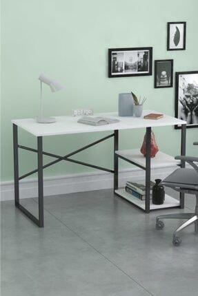 Noowa 60x120 Cm 2 Raflı Çalışma Masası Beyaz 0