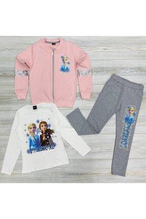 Frozen Elsa 3lü Ceketlı Taytlı Takım 0
