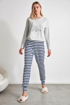 TRENDYOLMİLLA Baskılı Örme Pijama Takımı THMAW21PT0240 1