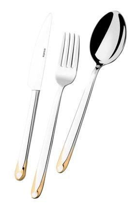 Narin Asellus Yemek Kaşık - Altın - 12 Adet 0