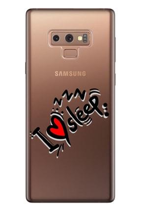 Cekuonline Samsung Galaxy Note 9 Tıpalı Kamera Korumalı Silikon Kılıf - Uyku Aşkı 0