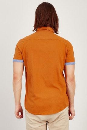 MNC Erkek Tarçın Kısa Kol Gömlek  Me20s111873 4