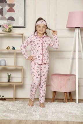 bebekcee Kız Çocuk Pijaboom Dijital Baskılı Kedili Pijama Takım 0