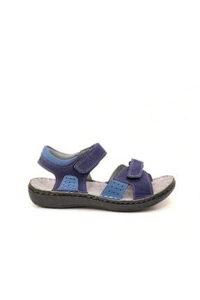 Toddler Erkek Çocuk Lacivert  Deri Sandalet 0