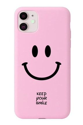 POFHİ Huawei P20 Lite Keep Your Smile Pembe Premium Telefon Kılıfı 0