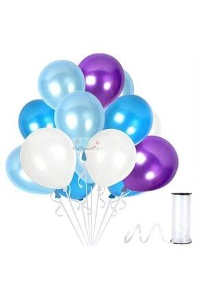 KullanAtParty Metalik Sedefli Parti Balonları Beyaz Pembe Karışık-100 Adet 4