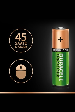 Duracell Rechargeable AA 1300 MH 4'lü 4