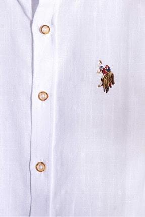 US Polo Assn Beyaz Erkek Çocuk Dokuma Gomlek 2