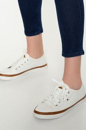 Tommy Hilfiger Kadın Beyaz Sneaker Iconıc Kesha Sneaker FW0FW02823 4