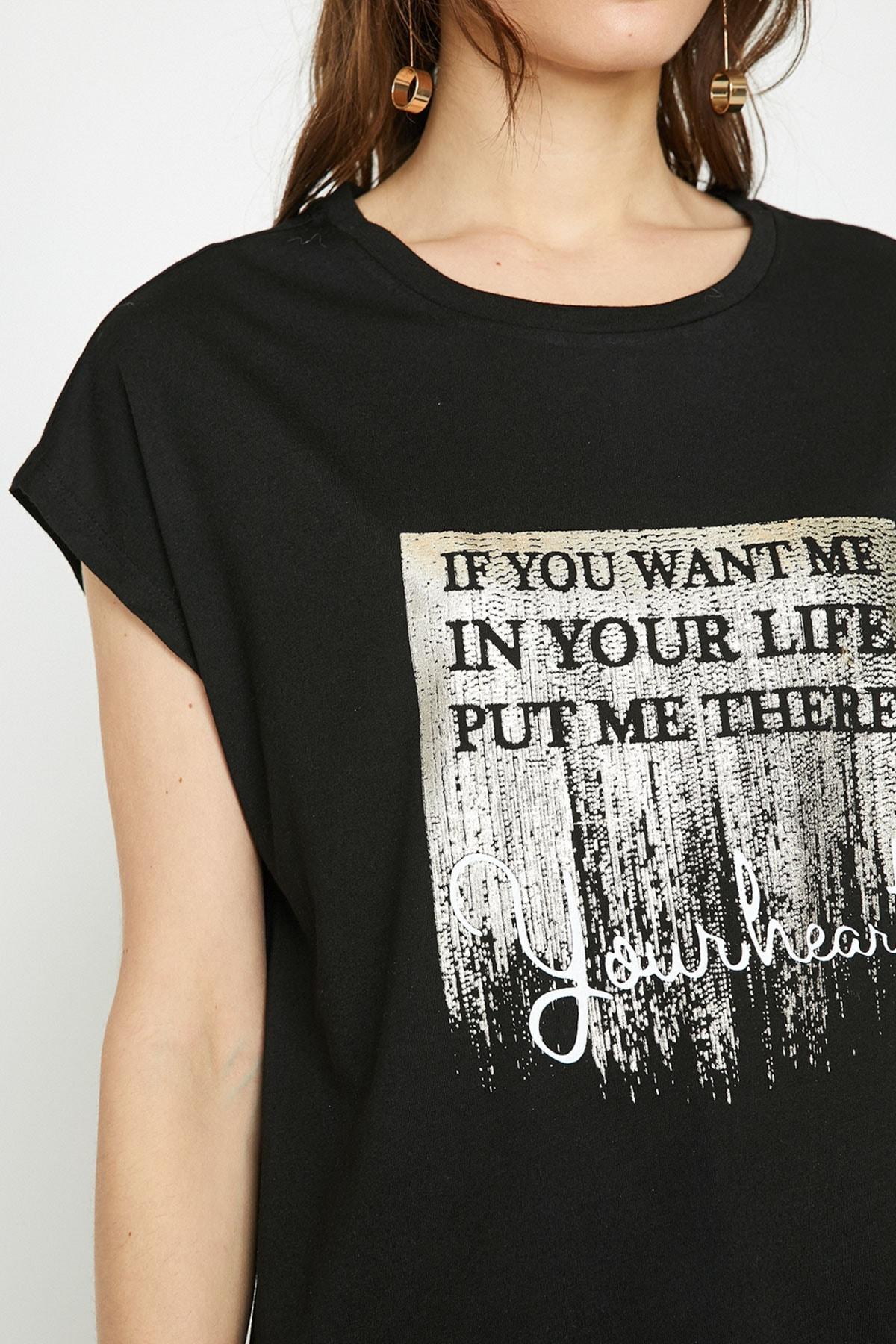 Koton Kadın Siyah T-Shirt