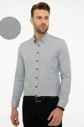Pierre Cardin Erkek Gri Slim Fit Gömlek 0