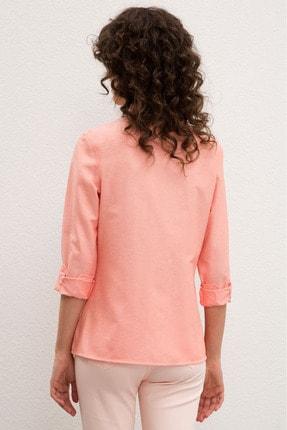 US Polo Assn Pembe Kadın Dokuma Gömlek 2