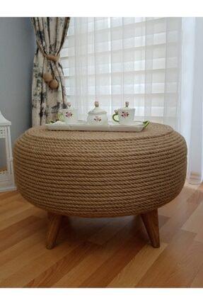 Doris Dekor Özel Tasarım Jüt, Kendir Halat Ip Hasır Dekoratif Orta Sehpa, Ev Dekorasyon Ürünleri 1