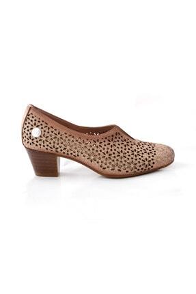 Mammamia Kadın Bej Topuklu Deri Ayakkabı 20ya715 1