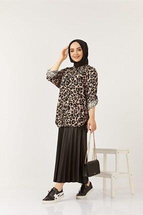 SAHRA BUTİK Kadın Siyah Büyük Beden Gömlek 1