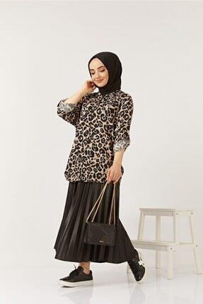SAHRA BUTİK Kadın Siyah Büyük Beden Gömlek 2