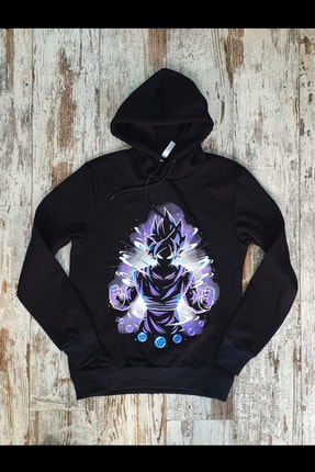 Built By Crazy Unisex Siyah Goku Sweatshirt Gkngoku321 0
