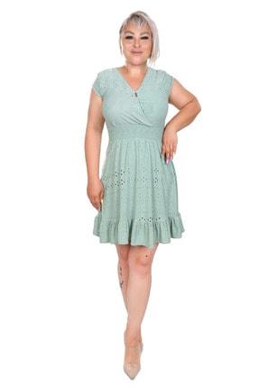 Kadın Su Yeşili Elbise TS009907